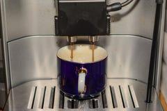 Preparato del caffè espresso Fotografia Stock Libera da Diritti