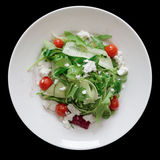Preparato dell'insalata con il formaggio di capra Fotografie Stock