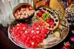 Preparato della bacca e della frutta Immagini Stock Libere da Diritti