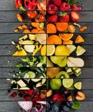 preparato della verdura e della frutta Fotografia Stock