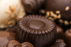 Preparato delle caramelle di cioccolato Fotografia Stock