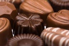 Preparato delle caramelle di cioccolato Immagini Stock