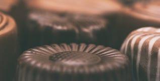 Preparato delle caramelle di cioccolato Fotografie Stock