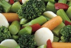 Preparato di verdure della carota del broccolo Immagini Stock