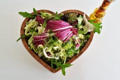 Preparato fresco dell'insalata verde Fotografie Stock