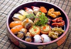 Preparato stabilito dei sushi fotografie stock