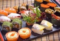 Preparato stabilito dei sushi fotografia stock libera da diritti