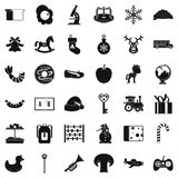 Preparatory class icons set, simple style. Preparatory class icons set. Simple set of 36 preparatory class vector icons for web isolated on white background Stock Photos