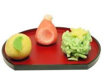 preparaty Świąt ciastek śliwek tradycyjną japońską drogę Obrazy Stock