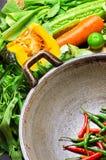 Preparazione alla cottura tradizionale asiatica Fotografia Stock Libera da Diritti