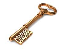 Preparazione - chiave dorata. Fotografie Stock