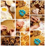 Preparazione dei biscotti del pan di zenzero Fotografia Stock