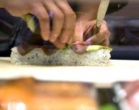 Preparazione dei sushi fotografia stock