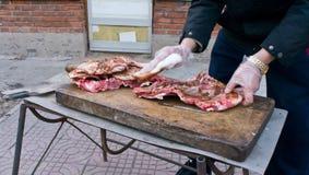 Preparazione del barbecue Fotografia Stock Libera da Diritti