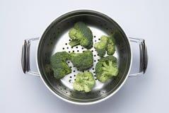 Preparazione del broccolo Fotografia Stock