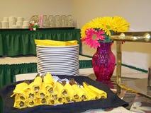 Preparazione del buffet Fotografia Stock