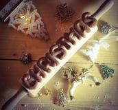 Preparazione del forno di Natale fotografie stock libere da diritti