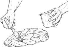 Preparazione del panettiere Immagini Stock
