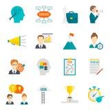 Preparazione del piano dell'icona di affari illustrazione di stock