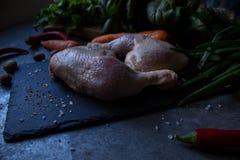 Preparazione del pollo crudo Immagine Stock Libera da Diritti