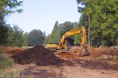 Preparazione del sito residenziale Immagine Stock