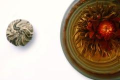 Preparazione del tè del tagete Fotografia Stock