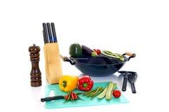 Preparazione del wok Immagine Stock Libera da Diritti