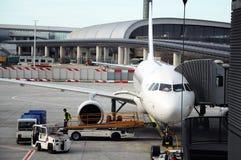 Preparazione dell'aereo Fotografia Stock