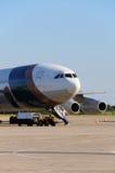 Preparazione dell'aeroplano per cominciare Immagini Stock