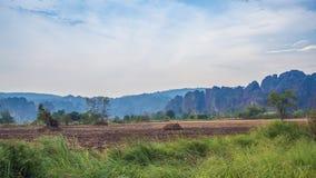 Preparazione dell'agricoltura della terra Fotografia Stock