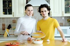 Preparazione dell'alimento vegetariano Immagini Stock