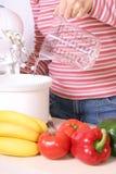 Preparazione dell'alimento vegetariano fotografia stock libera da diritti