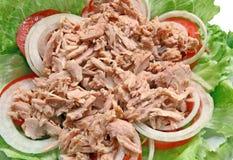 Preparazione dell'insalata di sgombro piccante tailandese Immagine Stock