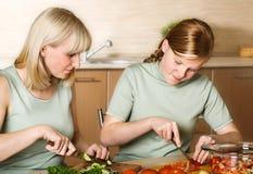 Preparazione della famiglia del pasto Immagine Stock