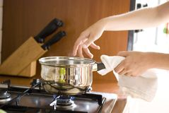 Preparazione della minestra immagine stock libera da diritti