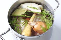 Preparazione della minestra fotografia stock