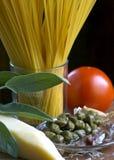 Preparazione della pasta italiana Fotografia Stock