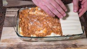 Preparazione delle lasagne Immagini Stock Libere da Diritti