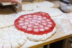 preparazione delle merci al forno fotografie stock libere da diritti