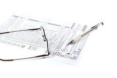 Preparazione delle tasse Fotografie Stock