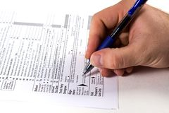 Preparazione delle tasse Immagine Stock