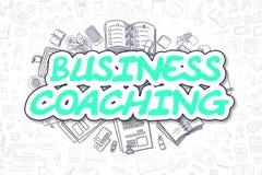 Preparazione di affari - testo verde di scarabocchio Concetto di affari Immagini Stock Libere da Diritti