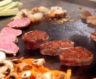 Preparazione di alimento di Tepenyaki Fotografia Stock