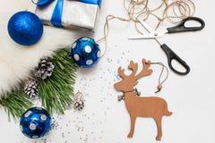 Preparazione di festa Natale e nuovo anno Fotografie Stock Libere da Diritti