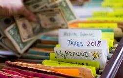 Preparazione di imposta e rimborso di imposta immagine stock libera da diritti