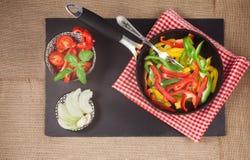 Preparazione di paprica colorata Fotografie Stock Libere da Diritti