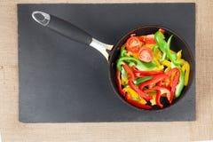 Preparazione di paprica colorata Fotografia Stock
