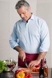 Preparazione domestica del pasto Fotografia Stock