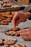 Preparazione fresca dei biscotti di natale Fotografia Stock