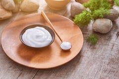 Preparazione gel naturale d'idratazione fatto a mano e del cosmetico antinvecchiamento Fotografia Stock Libera da Diritti